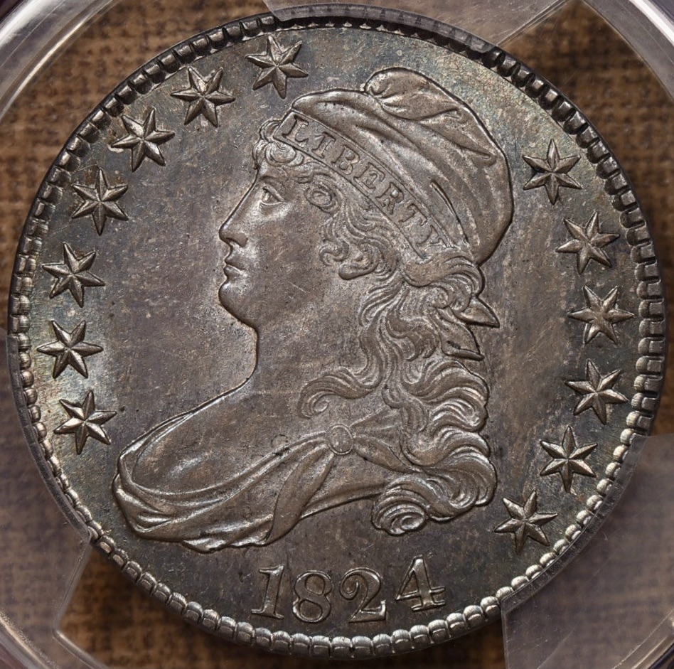 1824 Capped Bust PQ