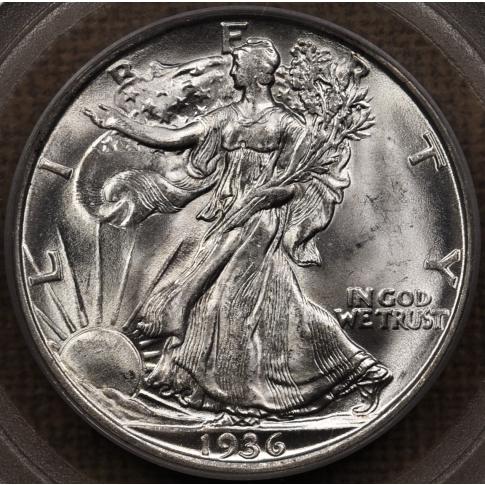 1936-D Walking Liberty Half Dollar PCGS MS63 OGH