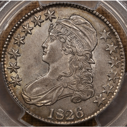 1826 O.115a R6? Capped Bust Half Dollar PCGS AU55