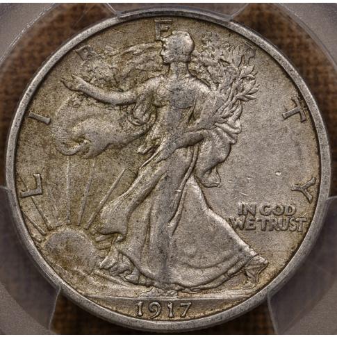 1917-S Reverse Walking Liberty Half Dollar PCGS XF45