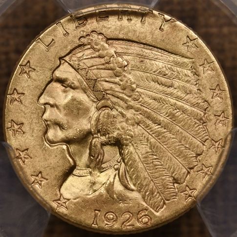 1926 $2.50 Indian Head PCGS MS64 CAC