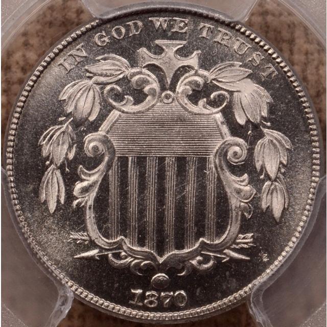 1870 Shield Nickel PCGS PR64CAM (CAC)