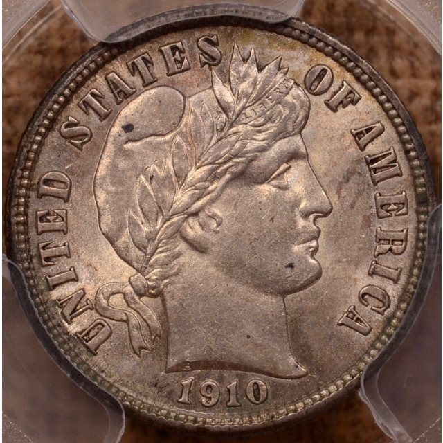 1910 Barber Dime PCGS MS63