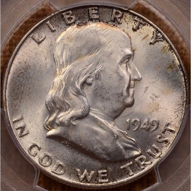 1949 Franklin Half Dollar PCGS MS64FBL