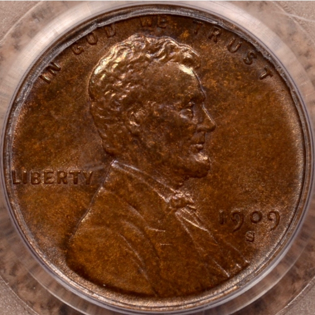 1909-S VDB Lincoln Cent PCGS MS62 BN OGH (CAC)