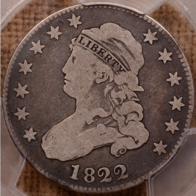 1822 B.1 Capped Bust Quarter PCGS VG8 (CAC)
