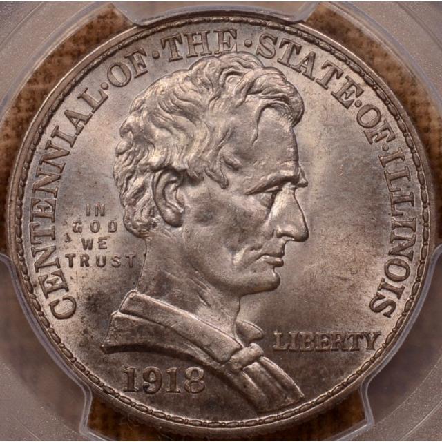 1918 Lincoln Silver Commemorative PCGS MS64