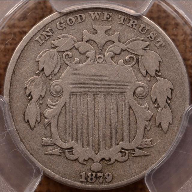 1879 Shield Nickel PCGS VG10 (CAC)