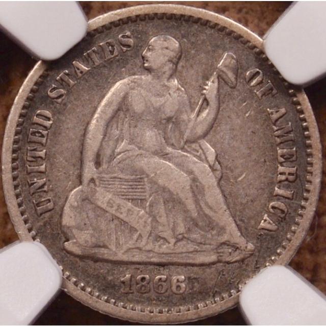 1866 Seated Half Dime NGC VF25