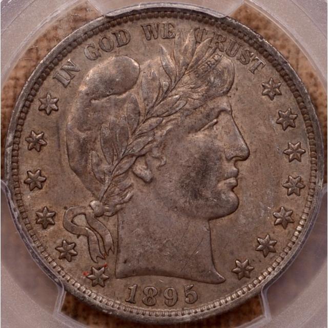 1895 Barber Half Dollar PCGS AU55 (CAC)