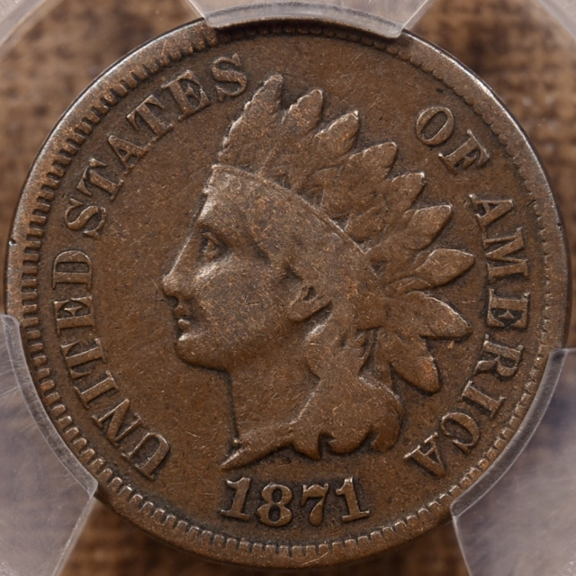 1871 Indian Cent PCGS VG8