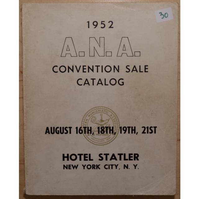 1952 ANA Convention Sale Catalog