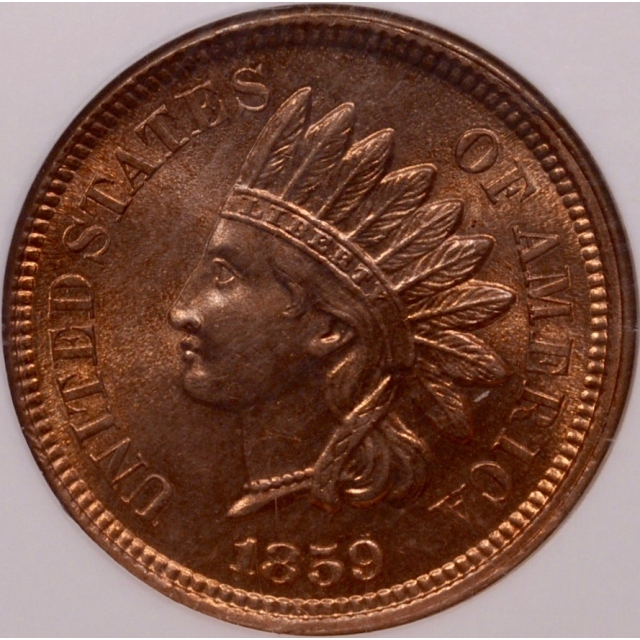 1859 Indian Cent NGC MS64 (CAC)