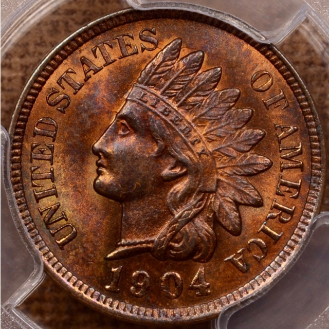 1904 Indian Cent PCGS MS64 RB