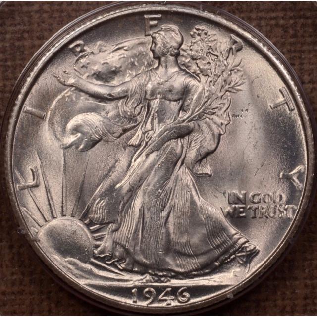 1946-S Walking Liberty Half Dollar PCGS MS63 (CAC), Rattler