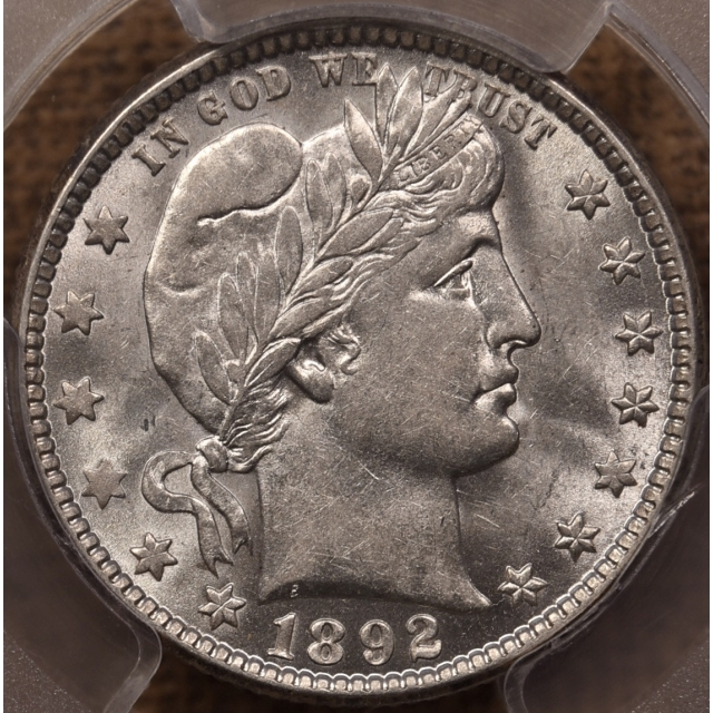 1892-O Barber Quarter PCGS AU58 CAC