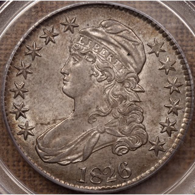 1826 O.109 Capped Bust Half Dollar PCGS MS62 CAC