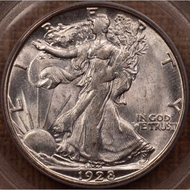 1928-S Walking Liberty Half Dollar PCGS AU55 (CAC) OGH
