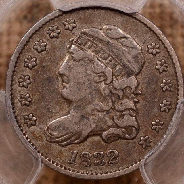 1832 LM-7 Capped Bust Half Dime PCGS VF25