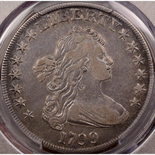 1799 B.10, BB-163 Draped Bust Dollar PCGS VF35 CAC