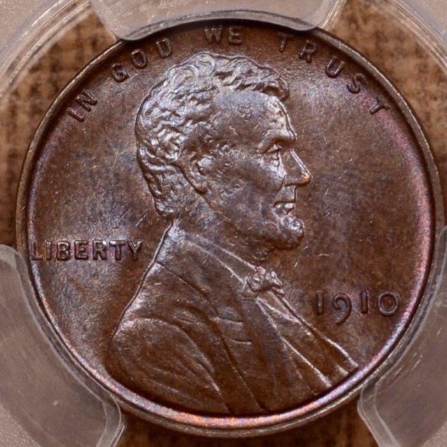 1910 Lincoln Cent PCGS MS64 BN