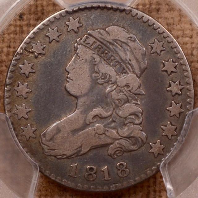 1818 B.9 R5+ EDS Capped Bust Quarter PCGS F15