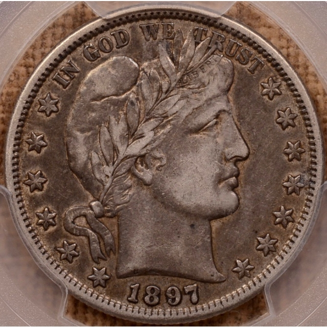 1897-S Barber Half Dollar PCGS XF40 (CAC)
