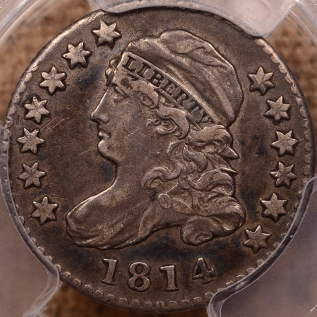 1814 JR-5 STATESOF Capped Bust Dime PCGS XF40 (CAC)