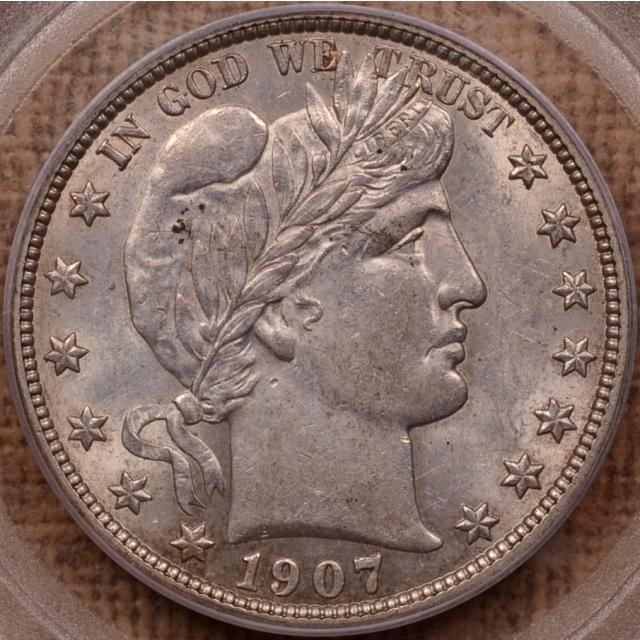 1907-O Barber Half Dollar PCGS AU55 (CAC)