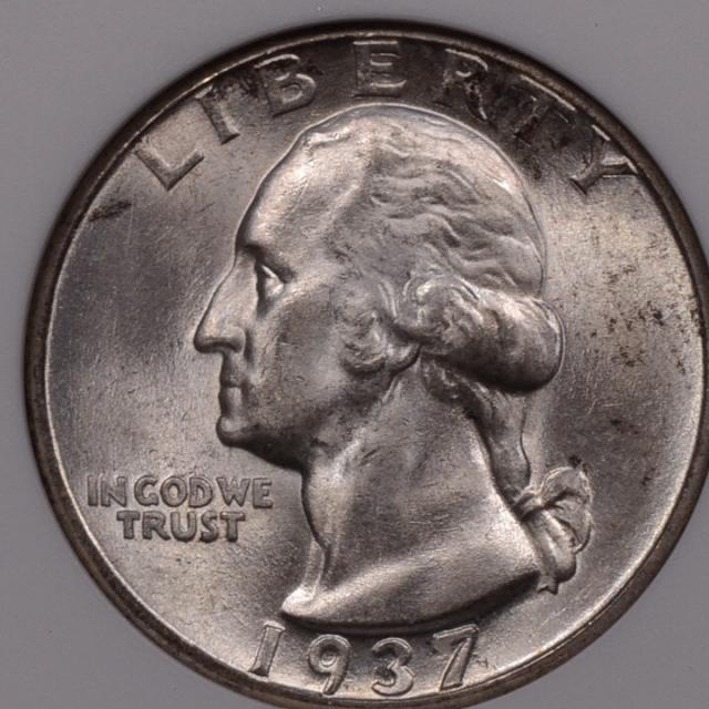 1937-D Washington Quarter ANACS MS63