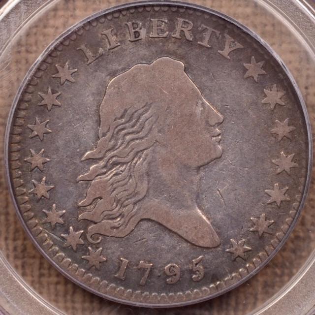 1795 O.106 T-30 R6 Flowing Hair Half Dollar PCGS F12 (CAC)