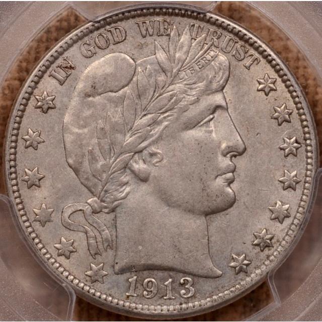 1913-D Barber Half Dollar PCGS AU55+ (CAC)