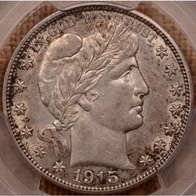 1915-S Barber Half Dollar PCGS AU55 (CAC)
