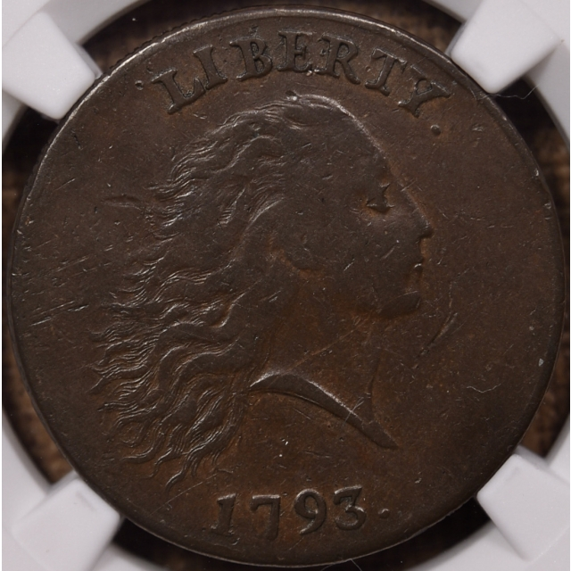 1793 S.4 Periods Flowing Hair Chain Cent NGC VF35
