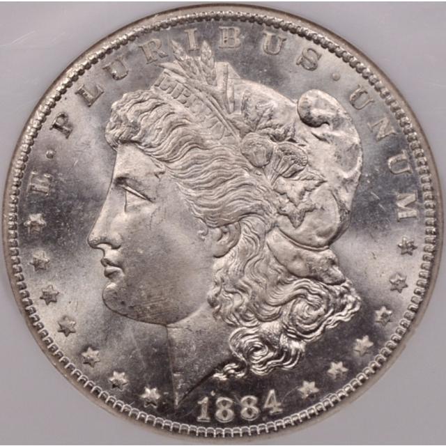 1884-CC Morgan Dollar NGC MS65 CAC, exceptional quality