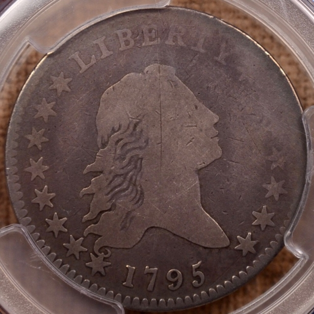 1795 O.120 T-4 R6+ Flowing Hair Half Dollar PCGS G6