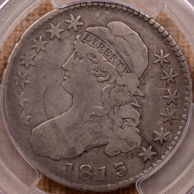 1813 O.106 Capped Bust Half Dollar PCGS F12