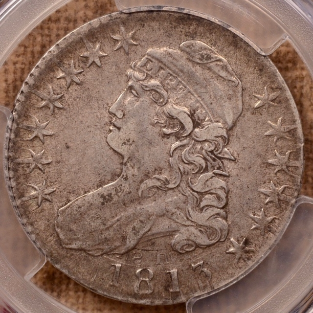 1813 O.110 Capped Bust Half Dollar PCGS XF40 CAC
