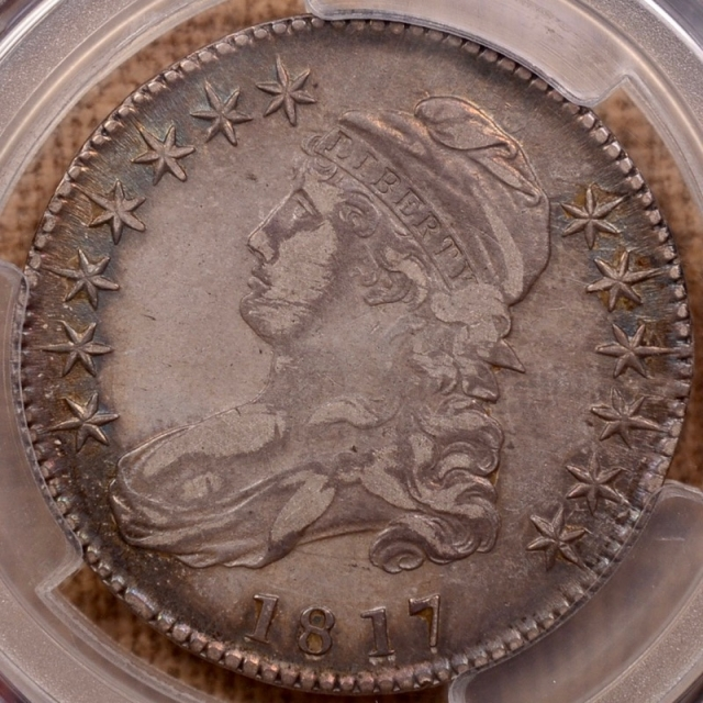 1817 O.103a Capped Bust Half Dollar PCGS XF45+ (CAC)