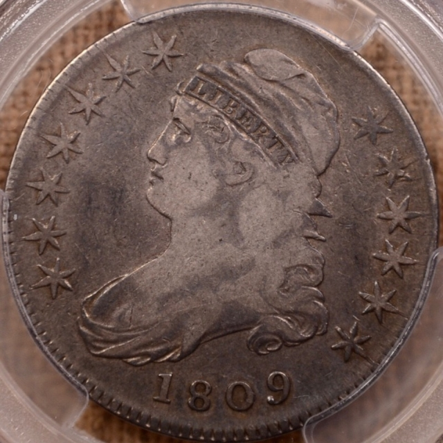 1809 O.110' R6? Capped Bust Half Dollar PCGS F15