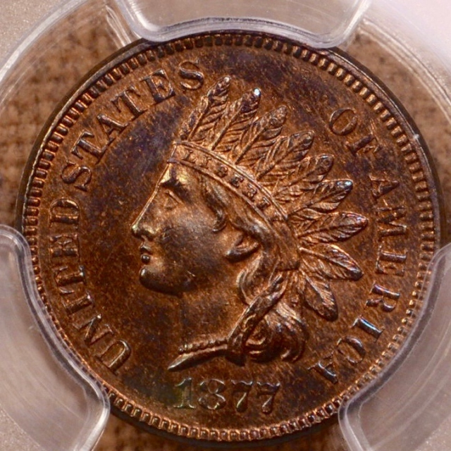 1877 Indian Cent - Type 3 Bronze PCGS PR63RB (CAC)