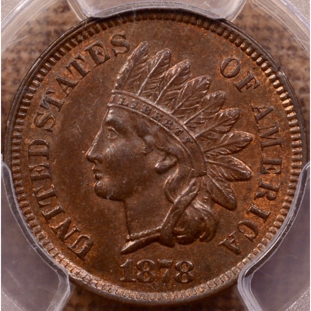 1878 Indian Cent PCGS MS64+ BN
