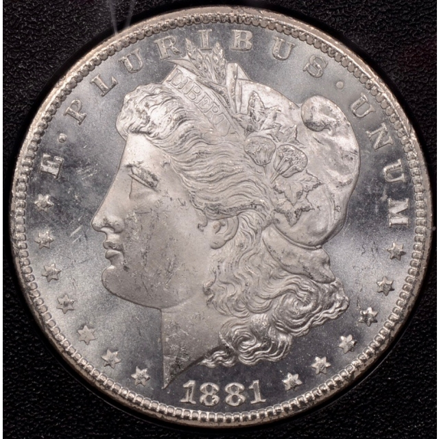 1881-CC GSA Morgan Dollar NGC MS63, Original Mint Packaging with Original Box and Card