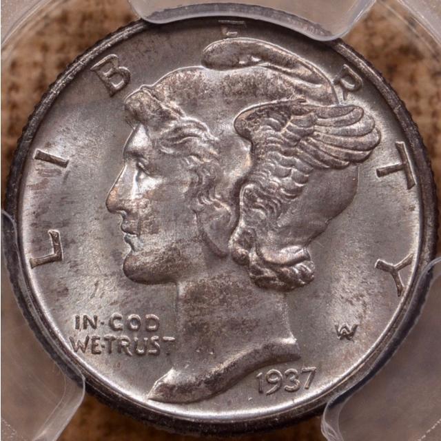 1937-D Mercury Dime PCGS MS65 FB