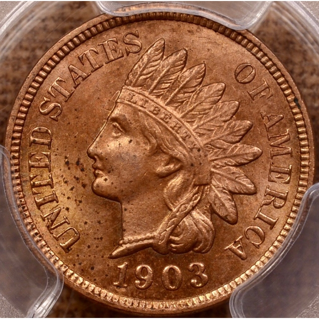 1903 Indian Cent PCGS MS63 RB...RD in my humble opinion