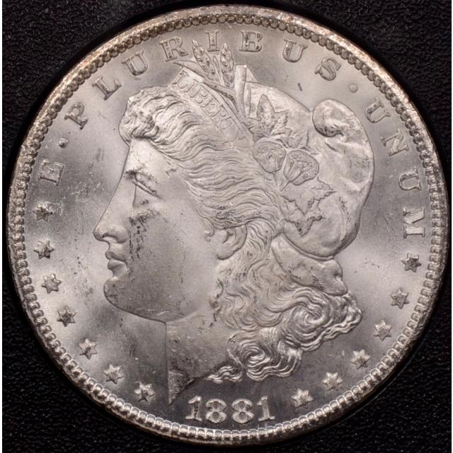 1881-CC GSA Morgan Dollar NGC MS64 (CAC), great card, orig outer box!