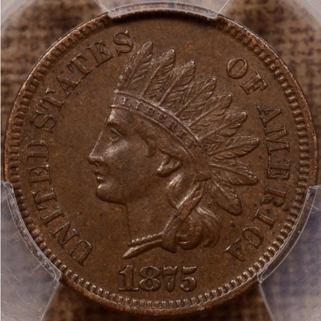 1875 Indian Cent PCGS AU53