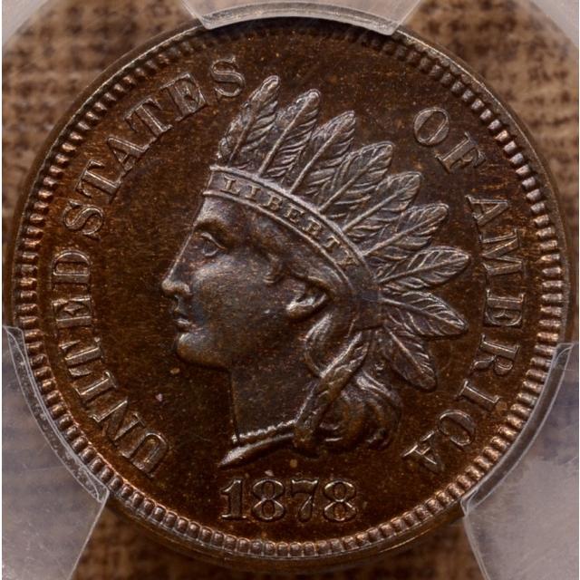 1878 Indian Cent PCGS PR65 BN CAC