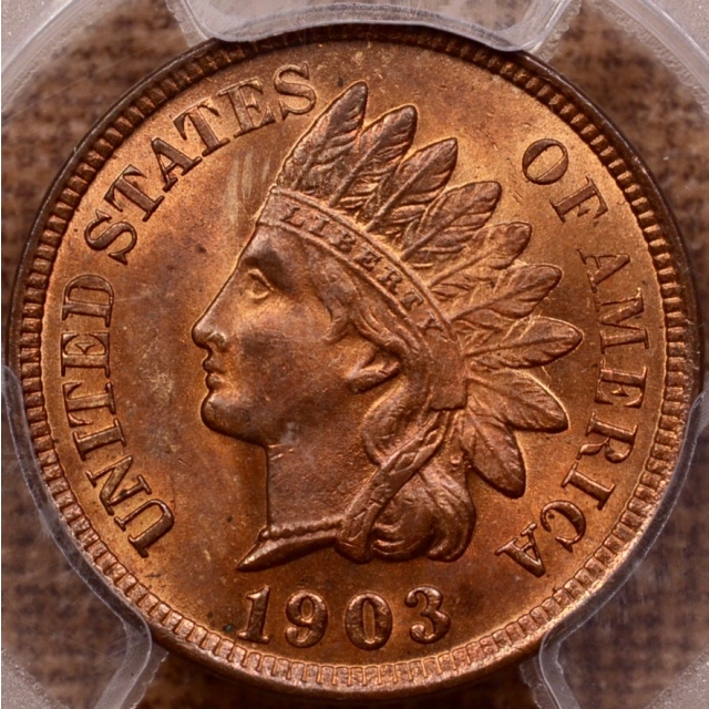 1903 Indian Cent PCGS MS64+ RB