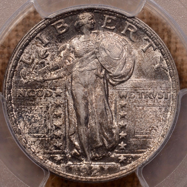 1921 Standing Liberty Quarter PCGS AU58+FH (CAC), the only 58+ FH